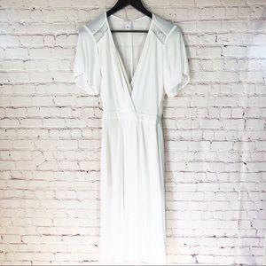 Leith White Midi Dress